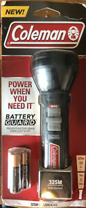 Coleman Flashlight 325M Batteryguard New 500 Lumens Batteries Included