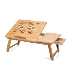 THY COLLECTIBLES Multi Function Bamboo Lapdesk Table Laptop Stand Breakfast...