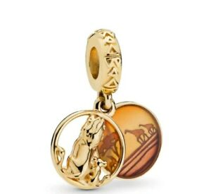 Charm Lion King bead charm Gold Simba Perfect for Europen charm bracelets CH01