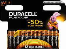 12 Duracell Plus Power AAA / Micro / MN2400 Alkaline Batterien im 12er Blister