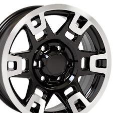"OEW 17"" Wheel Rim Fits Toyota Truck 4Runner TRD H Spoke TY16 Black Mach'd 75167"