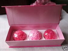 Gift set Hand made soaps with pure Rose water moisturizing  3 x 40g each