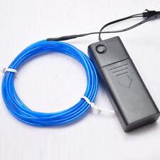 5pk Lychee Neon Glowing Strobing Light El Wire w/ Battery 15ft Blue Red