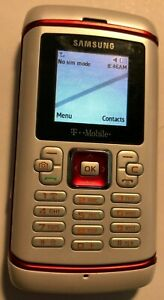 READ 1ST Samsung SGH T559 (T-Mobile) Red White Cell Phone Fast Ship Test Unit
