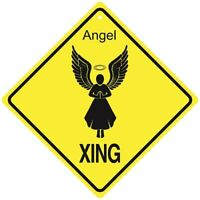 """HANGING Diamond shape USA #419 Butterfly Crossing Metal Sign 16 1//2/"""" x 16 1//2/"""""""