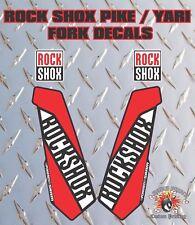 ROCK SHOX Fourche Autocollants Decals Graphics vtt DOWN HILL VTT Rouge