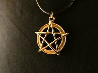 Anhänger Pentagramm mit Kette 24 Karat Vergoldet Gold Gesundheit Stern Leben
