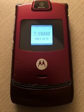Motorola V3M Alltel Razr Red Talk Text Flip Cell Phone
