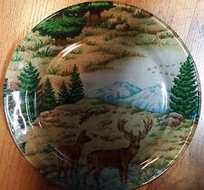 Deer Country Landscape Decorative Plate