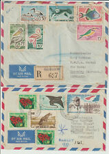 SOMALILAND - PAIR 1961 AIRMAIL COVERS TO UK - COMMERCIAL