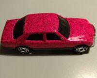 1981 Hot Wheels 380 SEL Die-Cast Metal Car Pink Metal Flake 1:64 Used