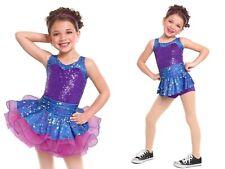 """""""I Feel Good"""" E1296 Dance Costume Curtain Call Purple Size Leotard CME Tutu CLA"""