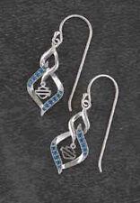 Harley Davidson ® Phoenix Silver Tone Drop Statement Boucles d/'oreilles 97695-14VW
