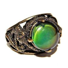 SNAKE MOOD RING serpent bronze color changing thermochromic Egyptian size 9.5 2H