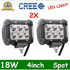2x 4in 18W CREE LED LIGHT BAR WORK SPOT LAMP OFFROAD BOAT UTE CAR TRUCK ATV OFF