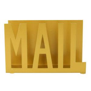 Desk Iron Letter Organizer Holder Mail Rack Post Stand Holder Container Craft