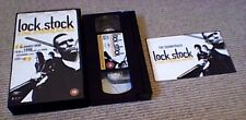 LOCK STOCK & TWO SMOKING BARRELS UK PAL VHS VIDEO 1998 w/ SOUNDTRACK POSTCARD