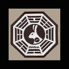 """LOST Dharma Initiative Embroidered patch """"Looking Glass"""" (W/Clock)"""