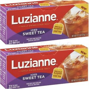 Luzianne, Iced Sweet Tea, Bags 2 Pack (2 boxes/ 44 ct)