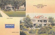 MENA AR 1945 Homes of Famous Radio Stars Lum & Abner VINTAGE ARKANSAS GEM+++