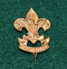 1930's BOY SCOUT - LARGE FIRST CLASS HAT PIN - STARS UP - SAFETY PIN CLASP
