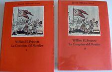 WILLIAM H. PRESCOTT LA CONQUISTA DEL MESSICO (2 VOLUMI) EINAUDI 1975