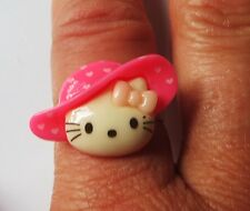 Kawaii *Hello Kitty in Hat* adjustable ring