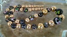 Vintage 14K Yellow Gold & Cloisonne Add a Bead Necklace