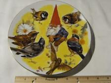 Rien Poortvliet Collector Plate Gnome Four Seasons Spring Sharing, Gnome + Birds