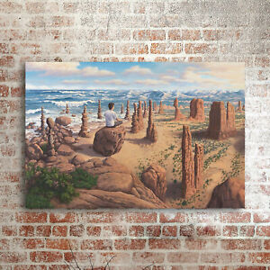 """36x24"""" Rob Gonsalves """"Pursuit of Balance"""" HD print on canvas large wall picture"""