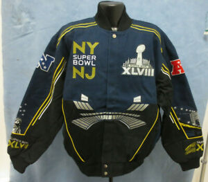 SEATTLE SEAHAWKS LARGE JACKET NFL MENS CHAMPIONSHIP SUPER BOWL XLVIII 48