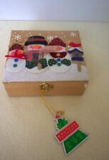 Christmas Ornaments Figurines 5-PC Holiday Treasures Hand-Crafted Gift Box