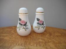 Wedgwood Hathaway Rose bone china pair salt and pepper shakers