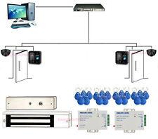 2 Puertas TCPIP Bio Sistema de Control de Acceso de Huellas Digitales Mag Lock
