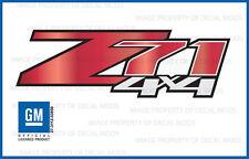 set of 2 - Z71 4x4 GMC Sierra 07-13 Decals Stickers Fade Red Apple - GRRDAPL