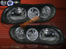 98-02 CHEVY CAMARO HEADLIGHTS JDM BLACK CHROME HALO NEW