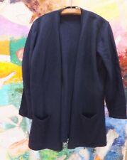 TSE Dark Blue 55% Silk/45% Cashmere Cardigan  Pockets Sweater Size M
