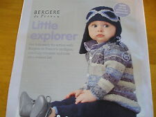 KNITTING PATTERN FOR BOYS CARDI ,PANTS AND AVIATOR HAT.