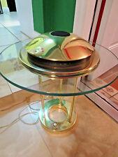 KOVACS LARGE BRASS SAUCER DESK LAMP! Sonneman Vtg 70s 80s UFO Panton Eames Era