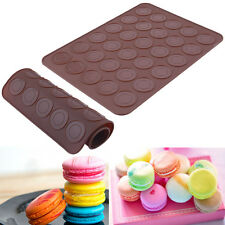Silicone Macaron Pastry Muffin Cake Oven Baking Mould Mold Sheet Mat DIY Cookie