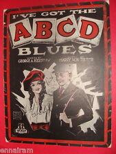 I've Got the A B C D Blues 1920 Kershaw & Von Tilzer Cover art: Barbelle
