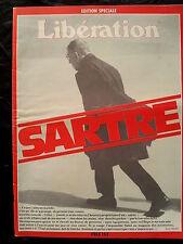 Libération Mort de Jean Paul Sartre Littérature culture philosophie