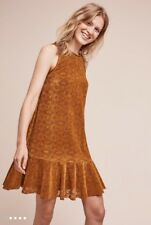 Anthropologie Amis Lace Dress Sz 0 XS Gold Brown - By Maeve