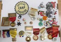 Lot of 30+ Vintage Pins Constitution Convention Delegate Pins Volunteer Firemen