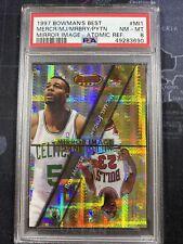 1997 Bowmans Best Michael Jordan Atomic Refractor Mirror Image PSA 8 NBA #mi1