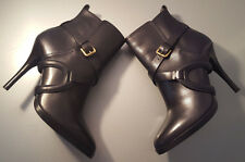 RALPH LAUREN COLLECTION KEANNA BLACK LEATHER ANKLE BOOT MADE IN ITALY SIZE 8B