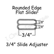 """200 Bow Tie Slide Adjusters* / Tri Bar for Adjustable Straps - 3/4"""" Silver Metal"""