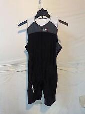 Louis Garneau Comp Triathlon Suit Men's Small Black/Grey Retail $115