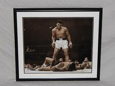 Muhammad Ali Phantom Punch Signed framed Rare 24x20 Photograph Online Authentics