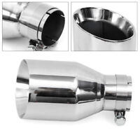"2.5"" Inlet Bolt On Exhaust Tip 4.5"" Outlet 8.66"" Long Stainless Steel Angle Cut"